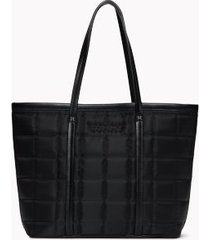 tommy hilfiger women's tommy quilted solid tote black -
