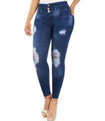 jeans colombiano control de abdomen d azul new rodivan
