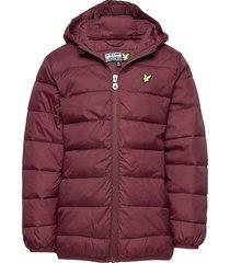 lightweight puffa jacket fodrad jacka röd lyle & scott junior