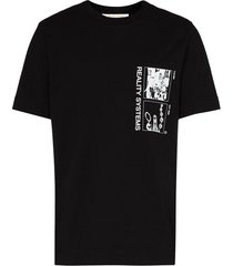1017 alyx 9sm graphic print t-shirt - black