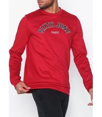 sixth june college sweatshirt tröjor röd