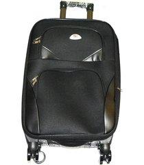 maleta de lona mediana 24 pulgadas - negro