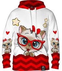 damska bluza z kapturem dr.crow cute cat