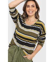 sweater amarillo minari lanilla rayado