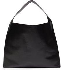 'border' leather hobo bag