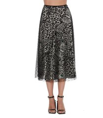 red valentino leo panther print skirt