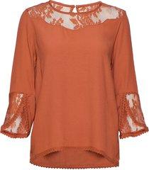 kalaniecr blouse blouse lange mouwen oranje cream