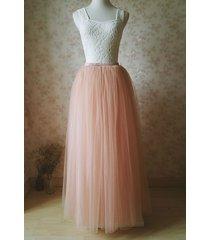 blush tulle maxi skirt adult full length tulle skirt blush pink tutu skirt nwt