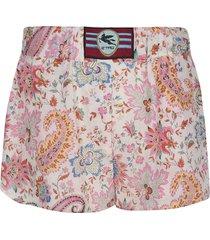 etro fantasia shorts