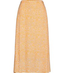 andina skirt aop 8083 knälång kjol orange samsøe samsøe