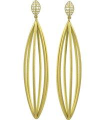 ulaini long cage diamond earrings