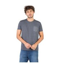 camiseta taco bolso masculina