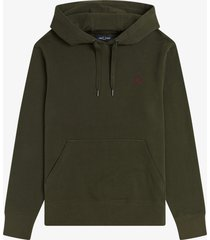 fred perry m2647 hooded sweater 408 hunting green -