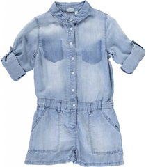 name it soepele lyocell denim jumpsuit short
