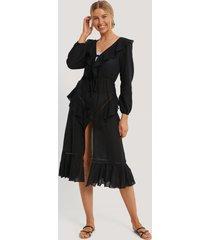 trendyol strandklänning i broderad voile - black