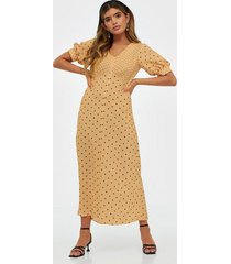 closet puff sleeve vneck midi dress maxiklänningar