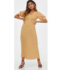 closet puff sleeve vneck midi dress maxiklänningar