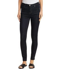 j brand women's maria high-rise skinny jeans - after dark - size 23 (00)
