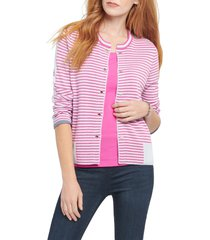 women's nic+zoe toggle stripe cardigan