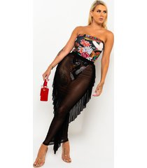 akira night on the town sheer mesh maxi skirt