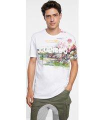 arty t-shirt 100% cotton - white - xxl