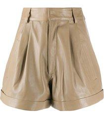 manokhi jett leather shorts - neutrals