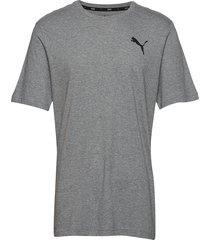 ess small logo tee t-shirts short-sleeved grå puma
