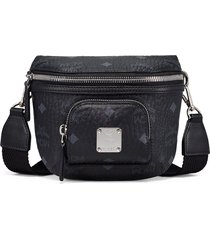 mcm klassik visetos crossbody bag - black