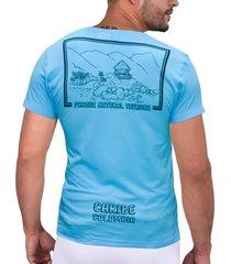 camiseta azul parques naturales cht
