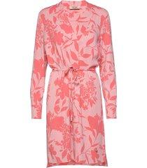 lipa stencil dress jurk knielengte roze mos mosh