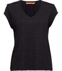 basic tee w. v-neck t-shirts & tops short-sleeved svart coster copenhagen