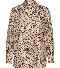 mariell blouse lange mouwen beige fall winter spring summer