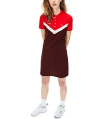 lacoste color blocked slim fit polo dress