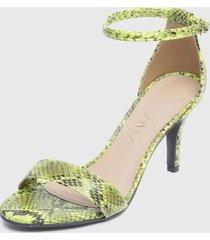 sandalia verde zatz