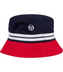 sergio tacchini stonewoods bucket hat   navy/lava  sta14015-326
