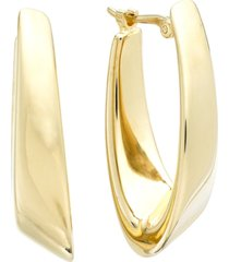 14k gold earrings, visor earrings