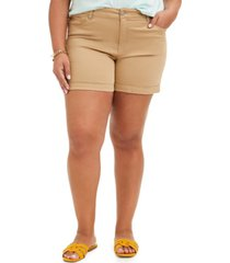 celebrity pink trendy plus size cuffed shorts