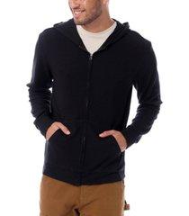 men's interlock lounge long sleeve hoodie