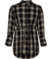 parker shirt dress dresses shirt dresses zwart mother of pearl