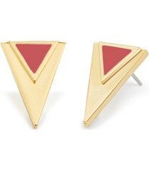 brook & york 14k gold plated sloan large triangle earrings