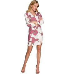 korte jurk makover k096 mini jurkje met overslag topje - model 3