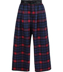 blue & pink stripe trousers