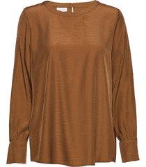 blouse long-sleeve blus långärmad brun gerry weber