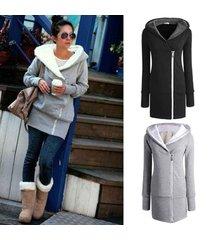 new 2017 korea women hoodies winter coat warm zip up outerwear sweatshirts sport