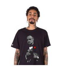 camiseta   stoned the godfather preta