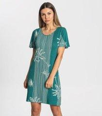 vestido tropical viscose rovitex feminino - feminino