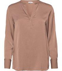 pull-on silk blouse blouse lange mouwen beige filippa k