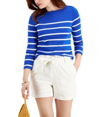 charter club striped cotton top, created for macy's