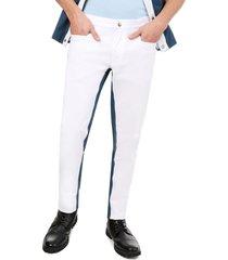 pantalón blanco con azul confort