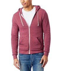 alternative apparel men's rocky zip hoodie